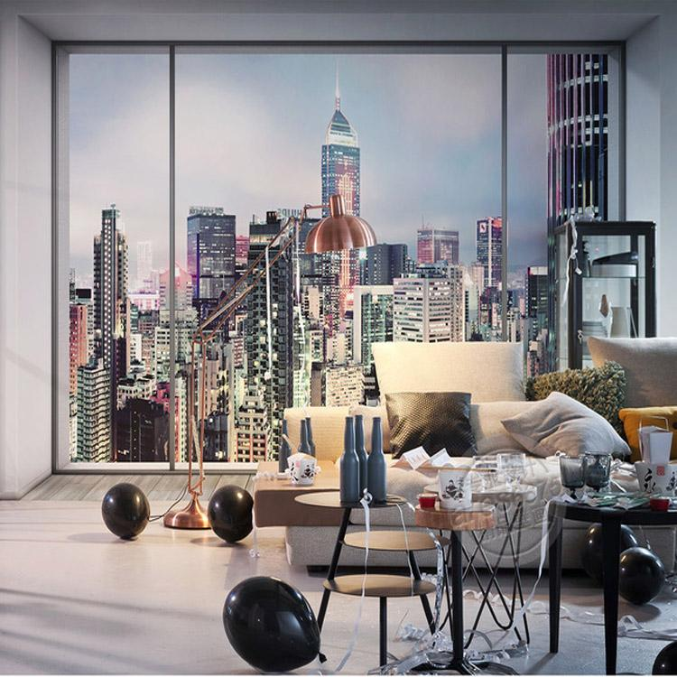Elegant 3d Window City Landscape Photo Wallpaper Large Wall Mural New York Sunrise  Scene Wallpaper Bedroom Room Decor Interior Modern Art Decoration Desktop  ... Part 23