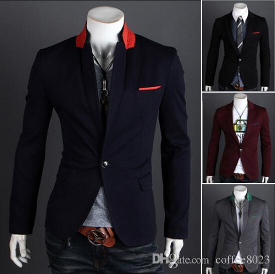 2018 Blazer Men Business Colorful Mens Blazer Jacket Sport Suit Jacket Menu0026#39;S Party Wedding Suits ...