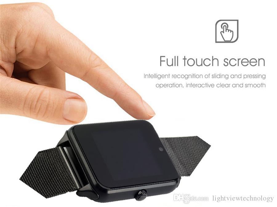 Bluetooth Smart Watch Phone Z60 из нержавеющей стали поддержка SIM-карты TF камеры фитнес-трекер против GT08 DZ09 A1 V8 Smartwatch для IOS Android