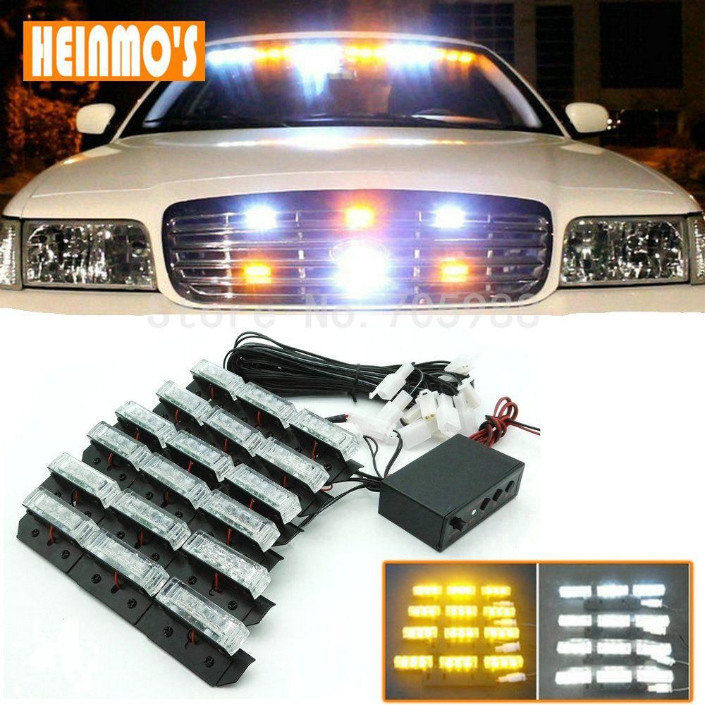 6 * 9 luci di emergenza a LED led luci stroboscopiche Bar Deck Dash Grille light car truck motor bike lamps
