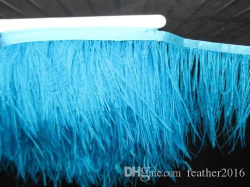 10 Yards 10-15cm 4-6 inches Trim Ostrich Fringe fluffy ostrich plumes feather centerpieces wedding party Clothing decoration feathers