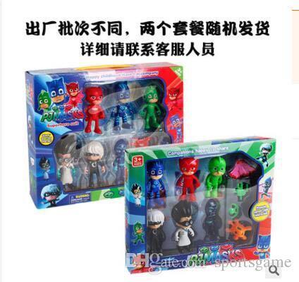 Детский смешной герой пи-пи-маски Маска рисунок игрушки скольжения автомобиля серии Catboy Гекко мультфильм аниме фигурку игрушки для детей подарки