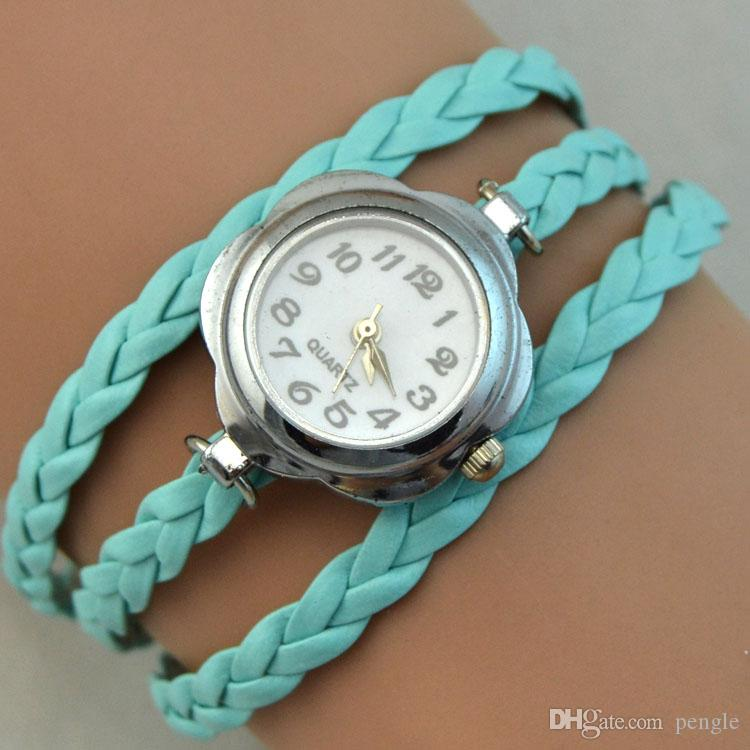 Charms Quartz Watches Fashion Infinity Bracelet Wrist Watches Women Watch Round Case Quartz Movement Mix Colors DHL Drop