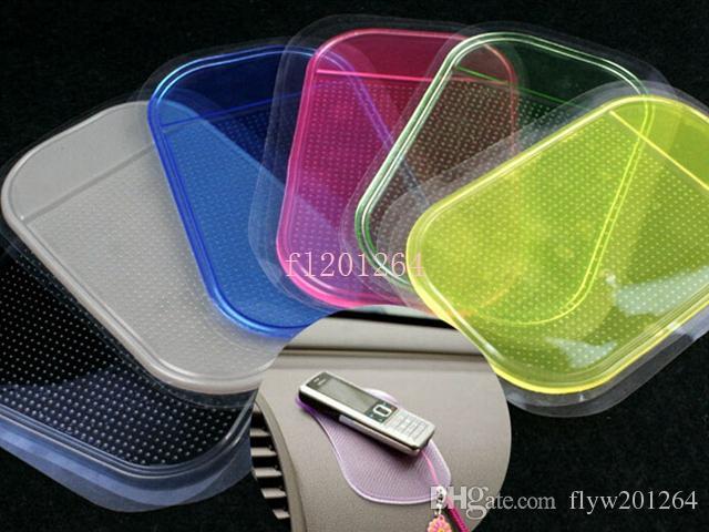 Бесплатная доставка мощный Magic Sticky Pad Anti Slip Non Slip коврик для телефона PDA mp3 mp4 автомобильные аксессуары 6 цветов, 5 шт. / лот