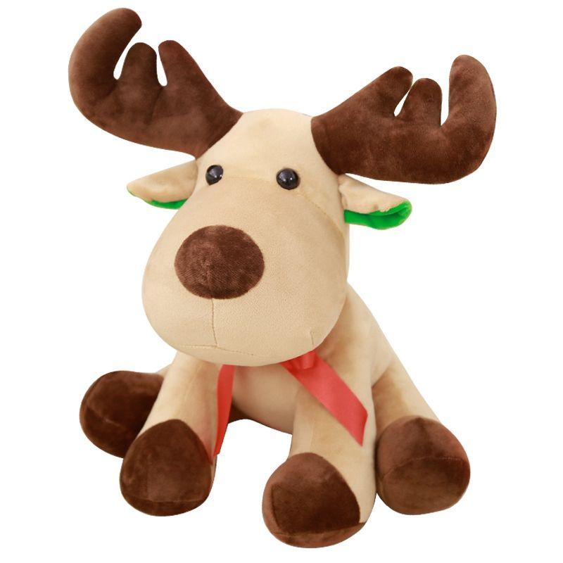 2018 dorimytrader christmas deer plush dolls toy kids stuffed animals soft toys scarf detachable deer fluffy juguetes xmas gift 45cm dy61867 from - Christmas Stuffed Animals
