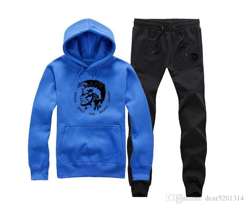Hoodies Men 2017 Brand Male Long Sleeve Hoodie Inclined Pocket Sweatshirt Mens Moletom Masculino Hoodies Diamond Supply sweat suit S-XXXL