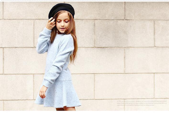 f1abe111e 2019 2016 Top Fashion Rushed Girl Dress Thick Kids Clothes For ...
