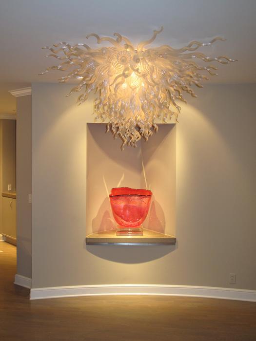 Lambalar 100% Ağız Üflemeli Borosilikat Murano Cam Tavan Işıkları Sanat Parlak İç Aydınlatma Kolye Ev Için Celling Işıkları