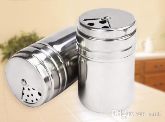 Bottiglia d'immagazzinamento di stuzzicadenti delle erbe del pepe del sale del sale dello zucchero dell'argilla della spezia dell'acciaio inossidabile caldo