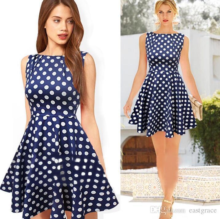 Mulheres vestidos de verão venda quente restaurar estilo antigo vestidos sem mangas plissando ponto de onda vestido A linha estilo mulheres vestidos de moda
