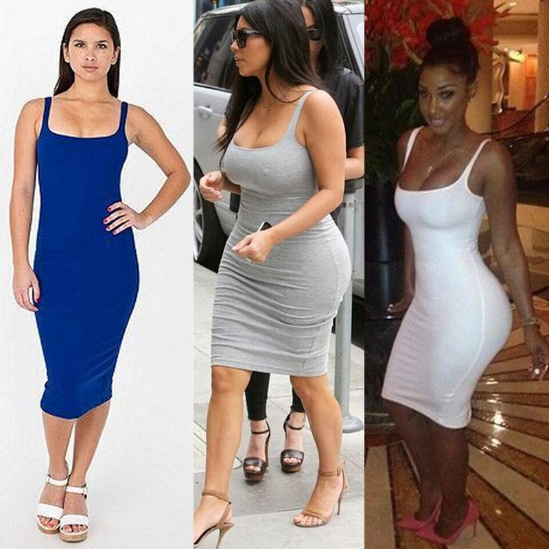 2019 New Women Bandage Bodycon Midi Dresses Fashion ...