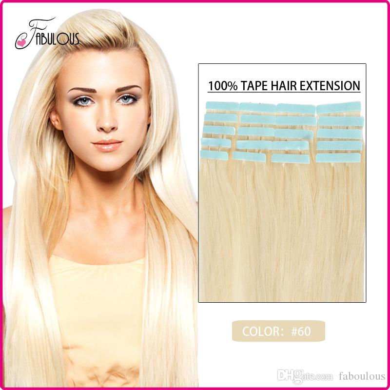 Fabulous Cheap Tape In Human Hair Extensions 16 24inches 30g 70g