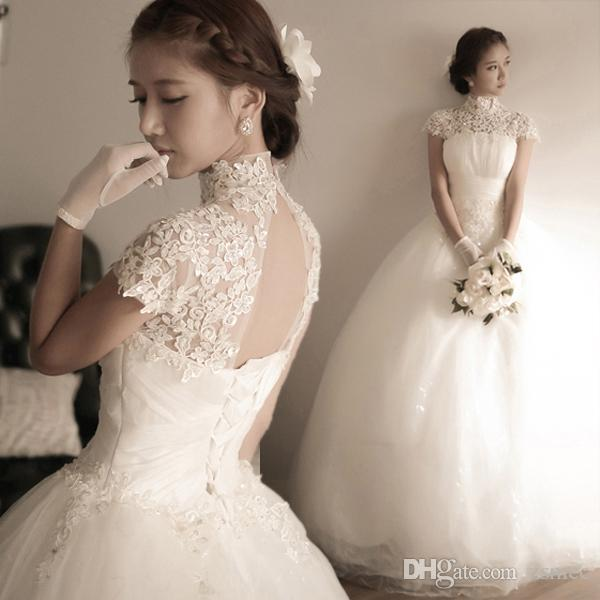 2016 Lace Wedding Dresses Diamond Lace Korean Princess Bride Bind A ...