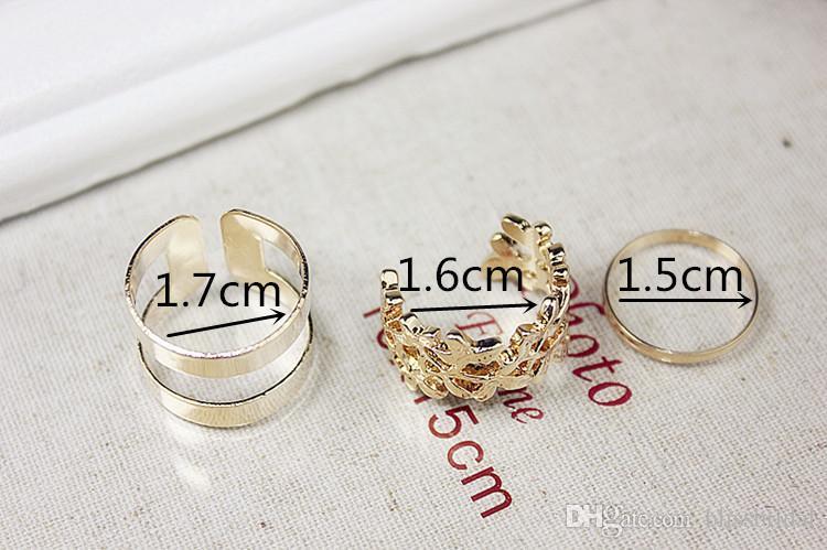 New Fashion Gold And Silver Set di anello pezzo anello femminile dito indice Personalità Vendita calda