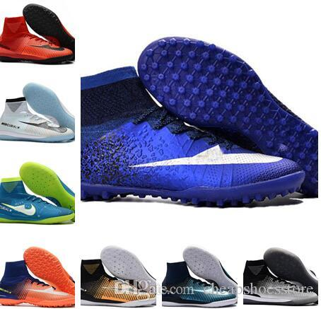 f5b8e86c2 CR7 IC Indoor Soccer shoes Mercurial Superfly V TF IC Indoor Soccer cleats  Cristiano Ronaldo Mens Football Boots + Box +Football Bag