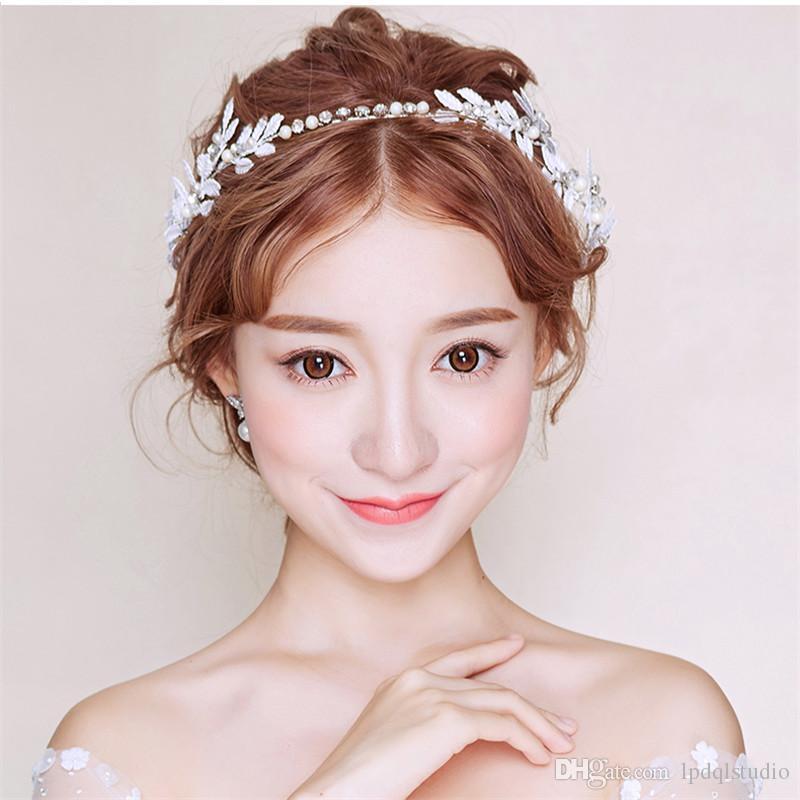 Peri Gelin Headpieces Headbands Yeni Varış Düğün Gelin Aksesuarları Çiçekler