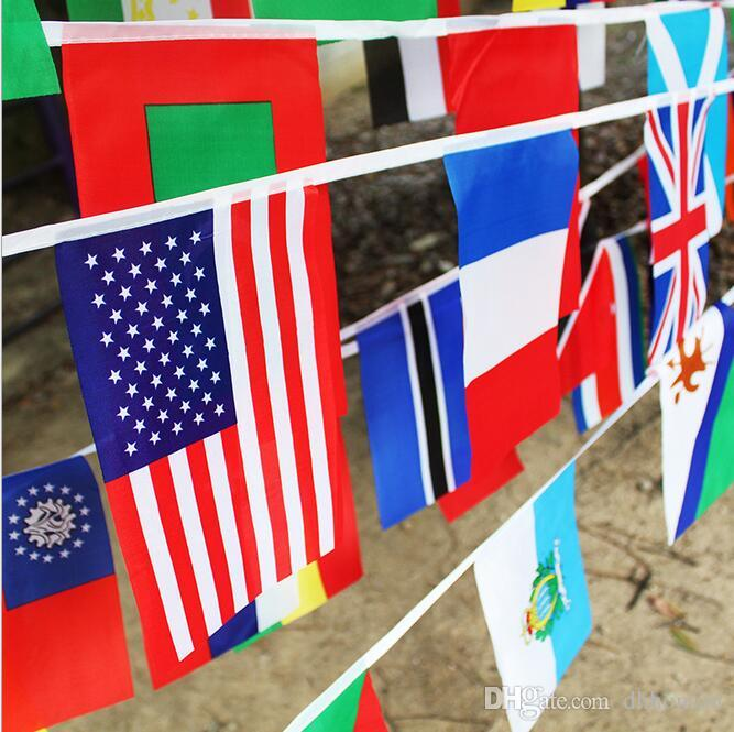 fb4af88db02 2019 8  12.5 M 50 Countries String Flags Small Flags Of Different Countries  Hanging Flags String Flag Party Decorate HK34 From Dhhonton