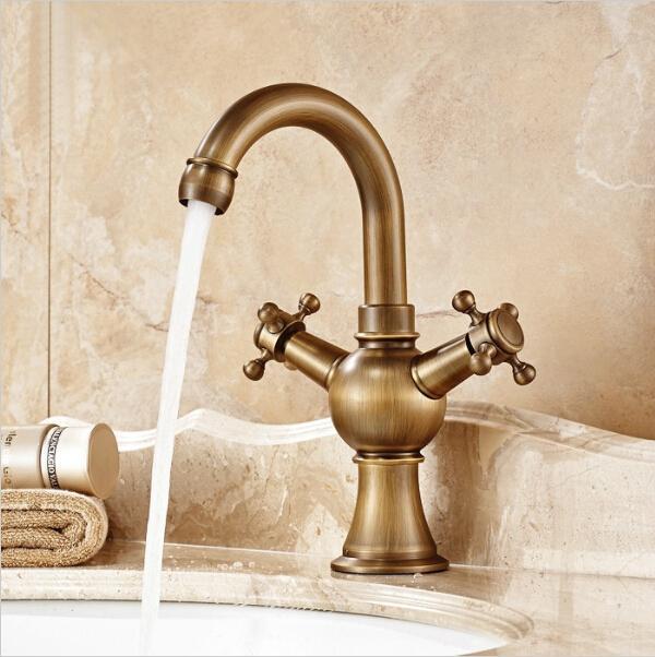 Discount 360 Degree Rotating Faucets Antique Bronze Bathroom Tap ...