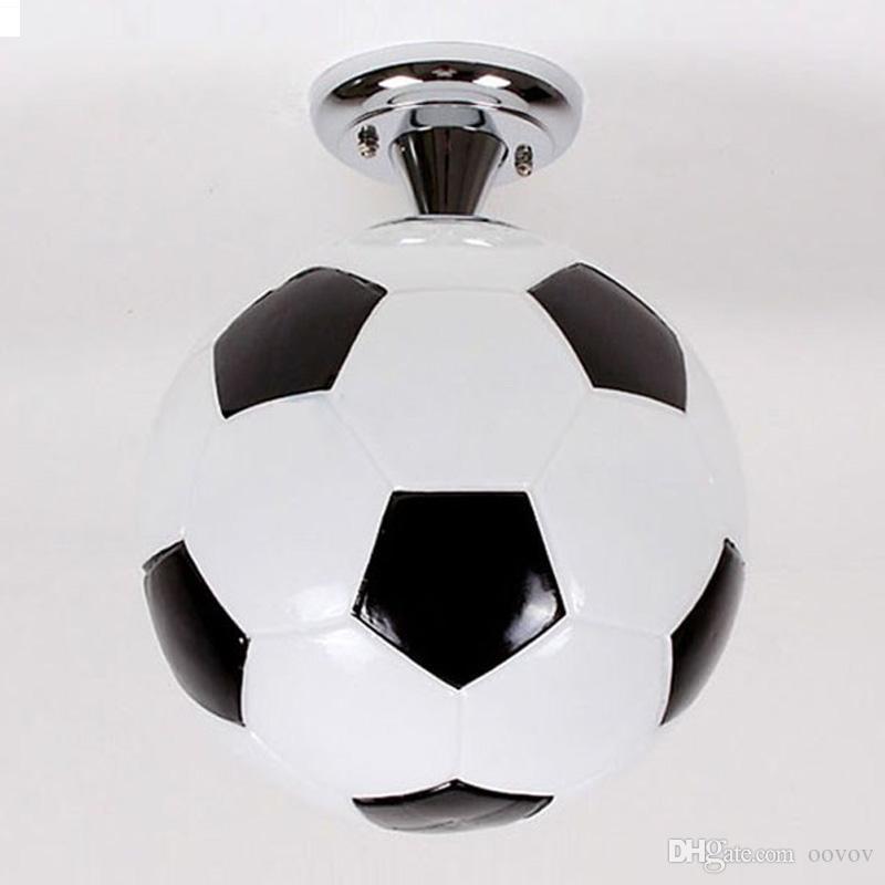 2020 Fashion Boys Room Football Ceiling Lamp Cute Cartoon ...