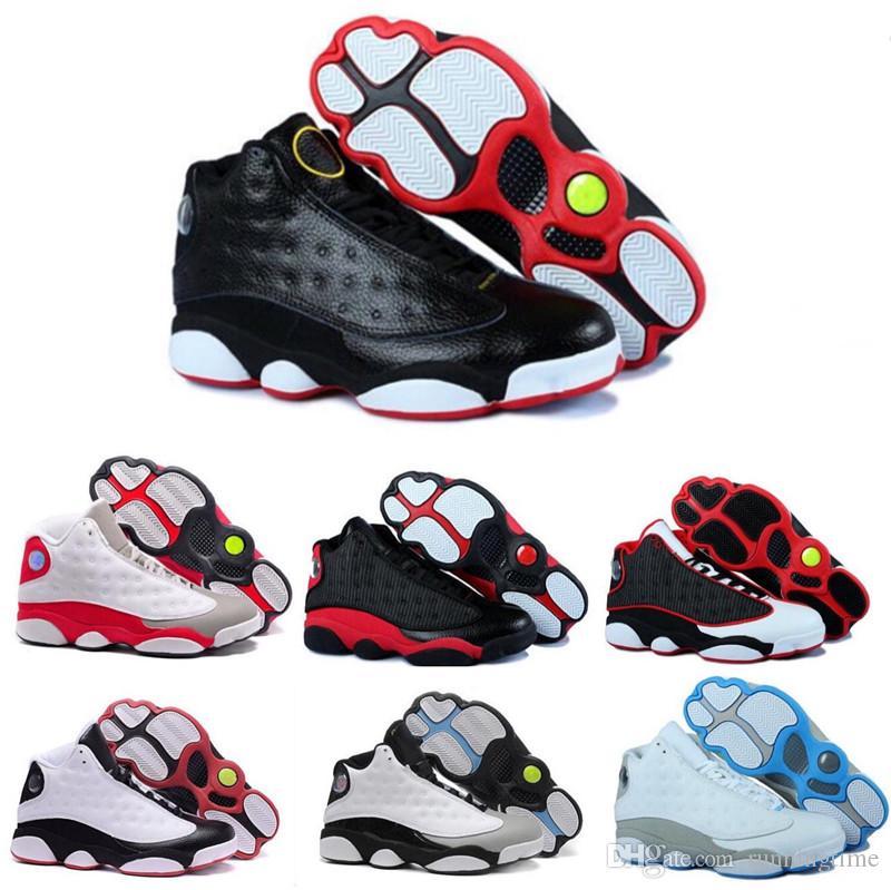 444521887db37 2018 Black Friday Deals 13s 13 Men Women Baskteball Shoes XIII Shoes he got  game Ivory hologram Bred Black Sports Sneakers