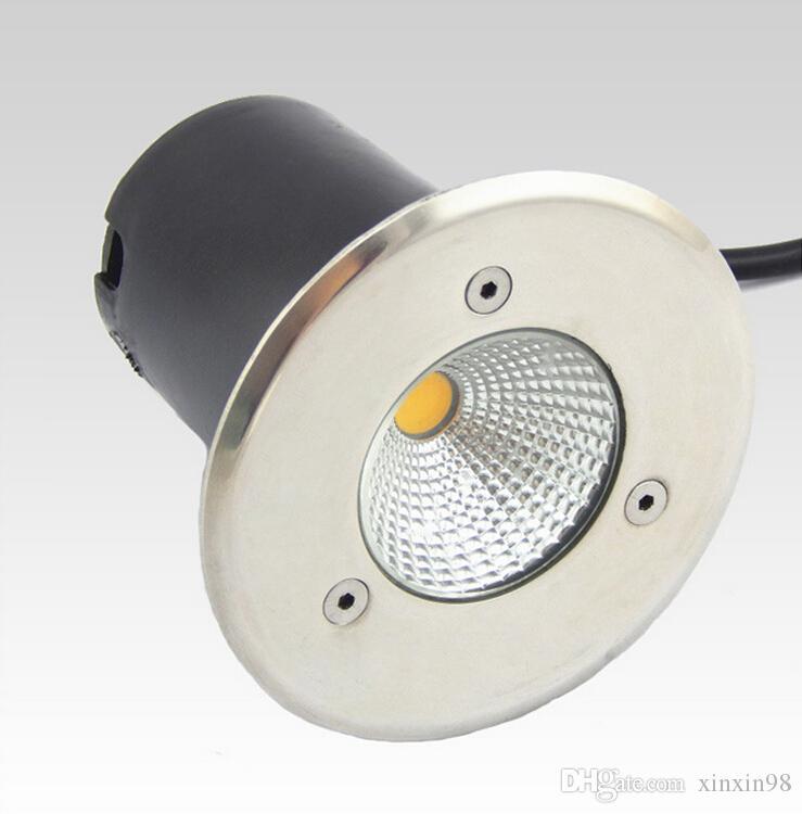 Подземный светильник Подземный светильник 10W AC85-265V COB Светодиодный подземный светильник IP68 Теплый белый / белый / красный / зеленый / синий светодиодный подземный светильник