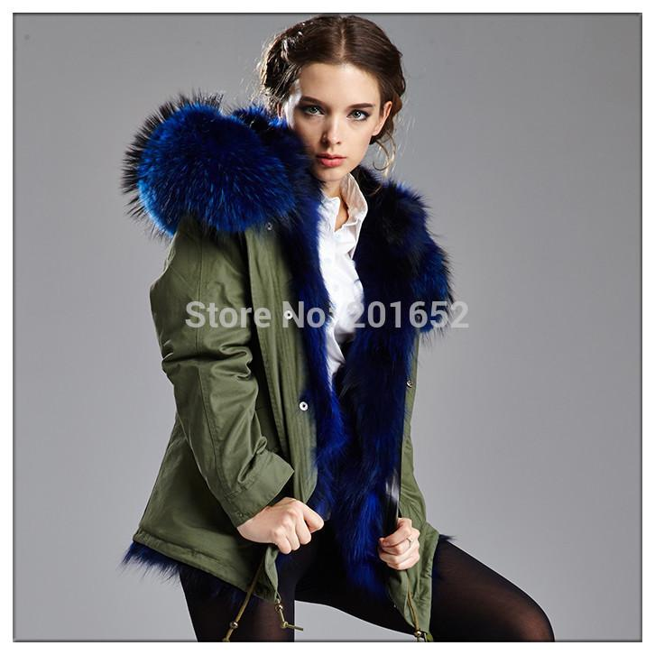 2018 Winter Fashion Women Detachable Big Fur Hooded Coat, Popular ...