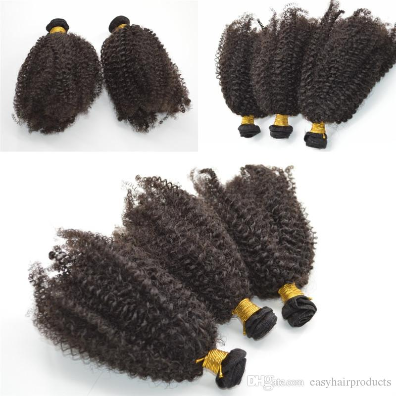 6pcs Brazilian Kinky Curly Hair Weave Bundles 100% Virgin Hair Extensions Brazilian afro Curly Hair Wefts G-EASY