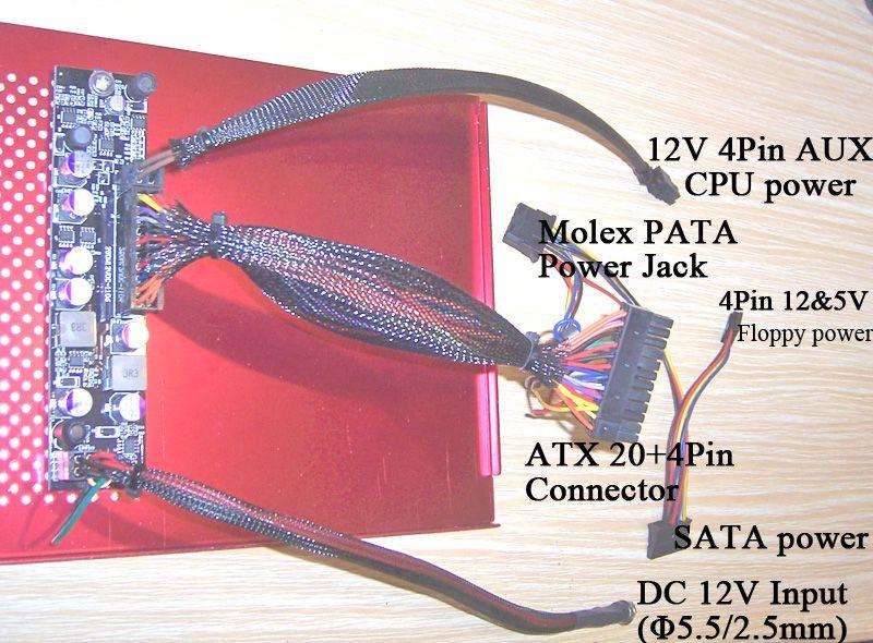 12V 250W DC-DC ITX التيار الكهربائي | اللوازم ATOM HTPC CAR AUTO مصغرة ميكو PC picoPSU ATX الطاقة