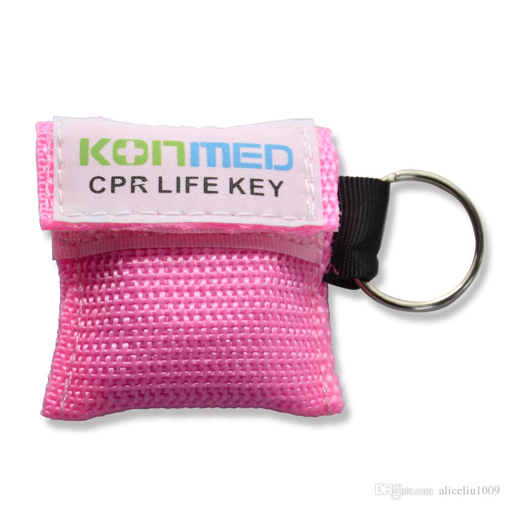 CPR Resuscitator Rescue Mask With Keys Chain Mouth To Mouth Protect CPR Face Shield For First Aid Training