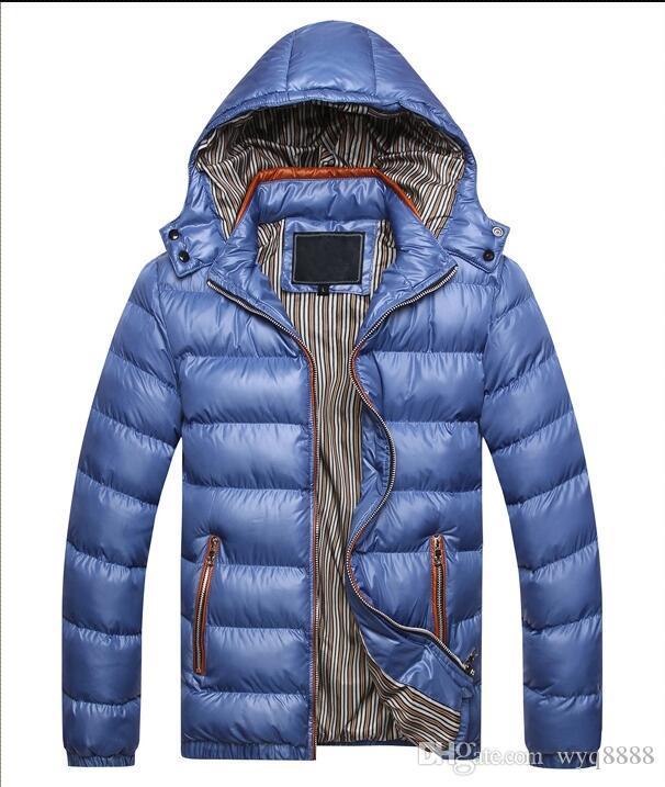 Envío gratis 2018 Mens chaqueta con capucha Chaqueta de invierno Hombres Algodón Marca Ropa Chaquetas Sirve abrigos de algodón