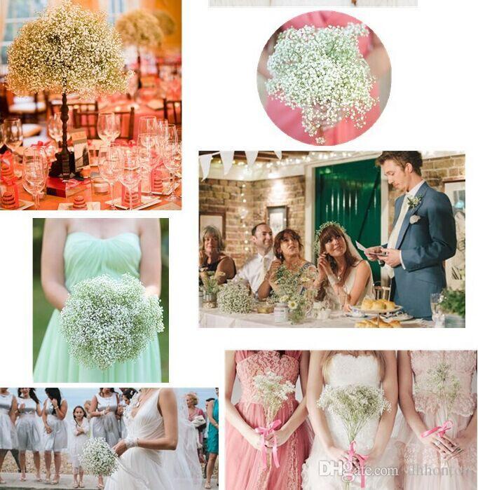 gypsophila respiro del bambino fiore di seta artificiale pianta casa decorazione di cerimonia nuziale fiori decorativi decorazione bouquet nuziale fiori matrimonio