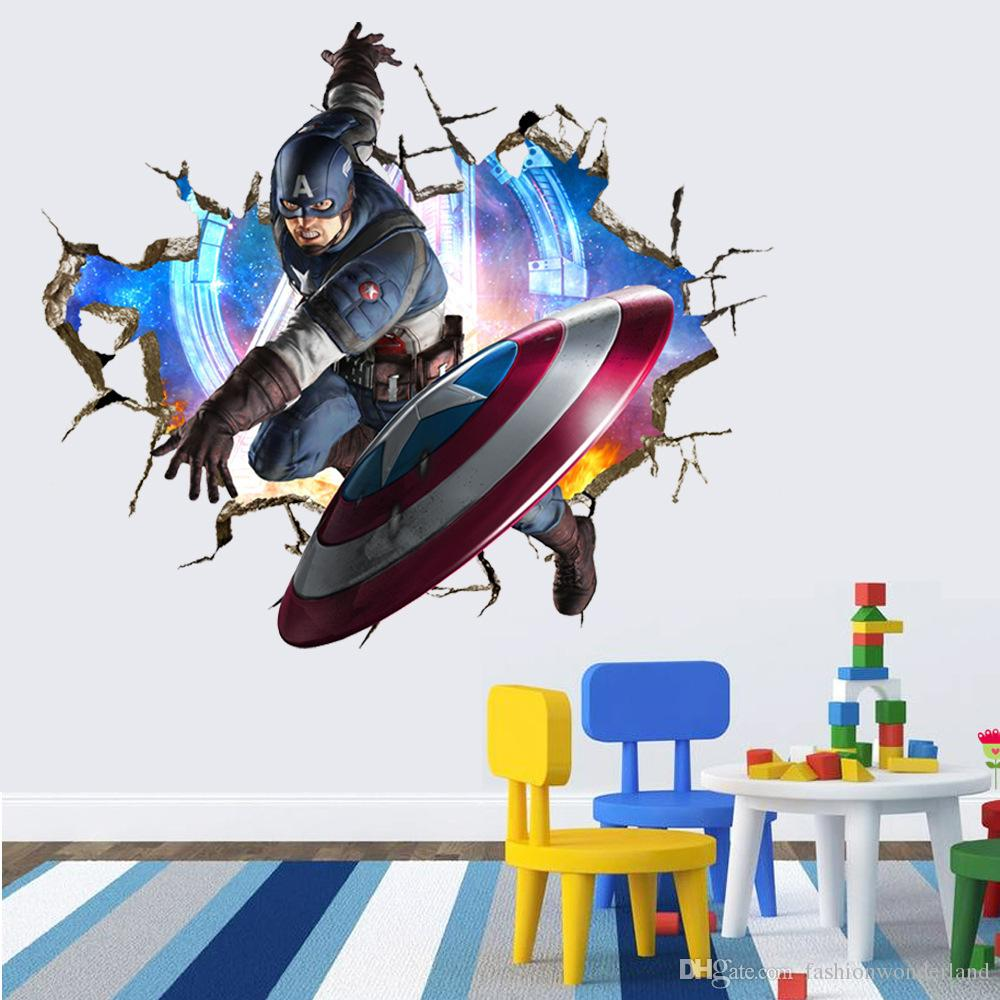 4 styles captain america iron man wall sticker the hulk the 4 styles captain america iron man wall sticker the hulk the avengers wall covering wallpaper rolls boys and girls bedroom decoration wall stickers for kids amipublicfo Choice Image