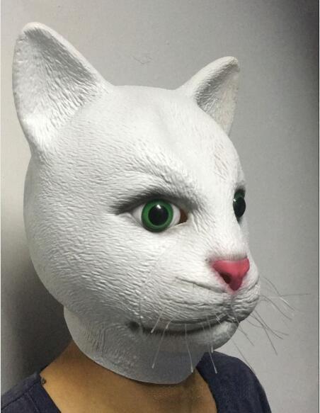 Nouveau latex plein visage Chat Masque Masque En Caoutchouc Animal Masque Halloween Masquerade Party Masque drôle Halloween prodcut offre livraison gratuite