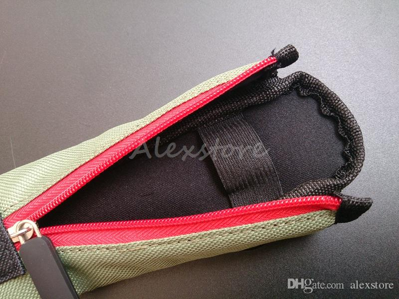 Carry pouch bag ECig Carring pouch Colorful Cloth Box Case with Hook Zipper Necklace Lanyard Holder for ego evod x6 Mech Mechanical Mod