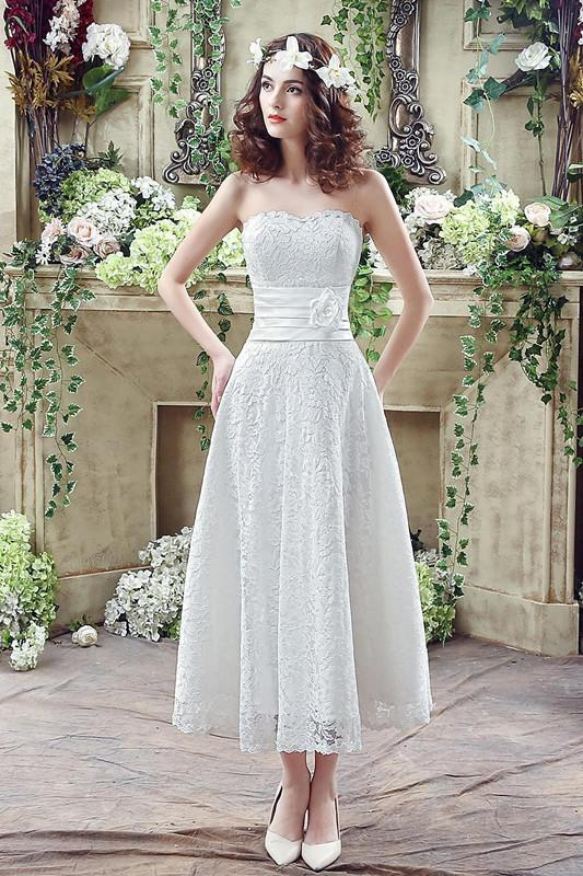 Discount 2016 Full Lace Wedding Dresses Sweetheart Lace Sheath Dress ...