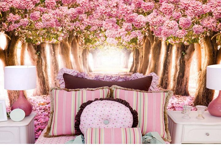 Large Floral Wall Murals 3d For Living Room Photo