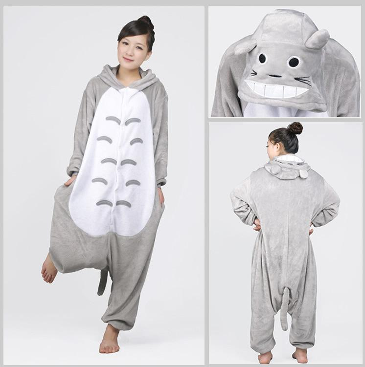 2019 Halloween Jumpsuit Animal Anime Totoro Kigurumi Pajamas One Piece Adult  Onesie For Women Men Warm Christmas Halloween Party Pajama From Nice baby 7f3b4052d