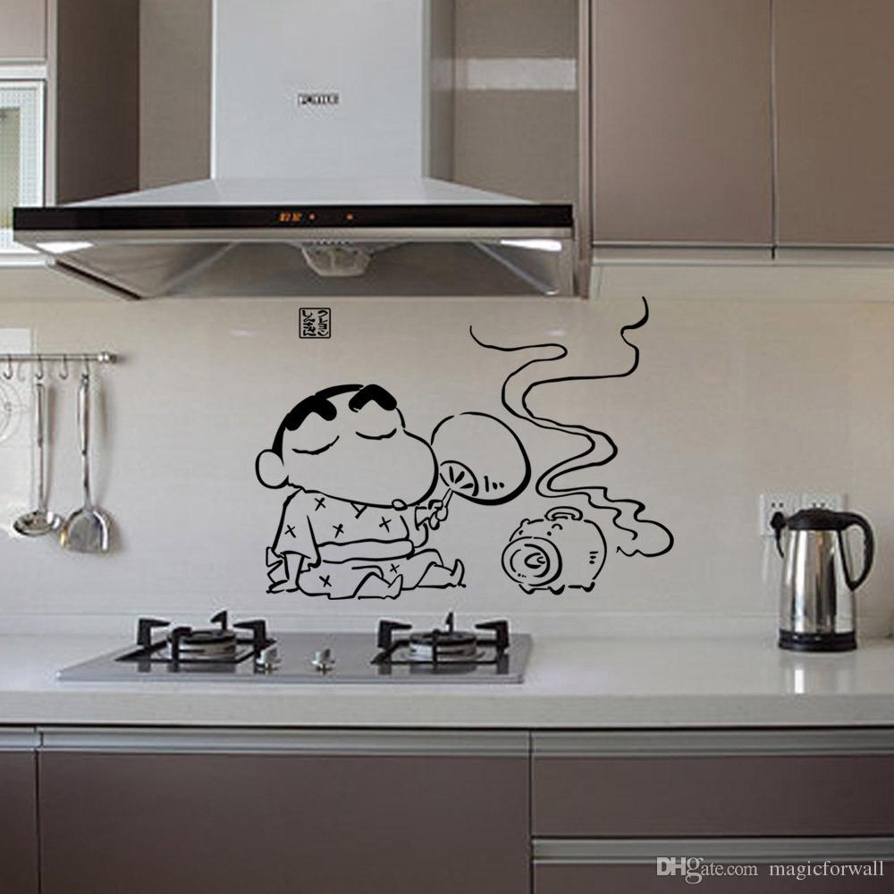 Creative Cartoon Kitchen Art Mural Poster Decor Tile Cabinet Decoration Wall Decal Sticker Fashionable Funny Kitchen Decor Art