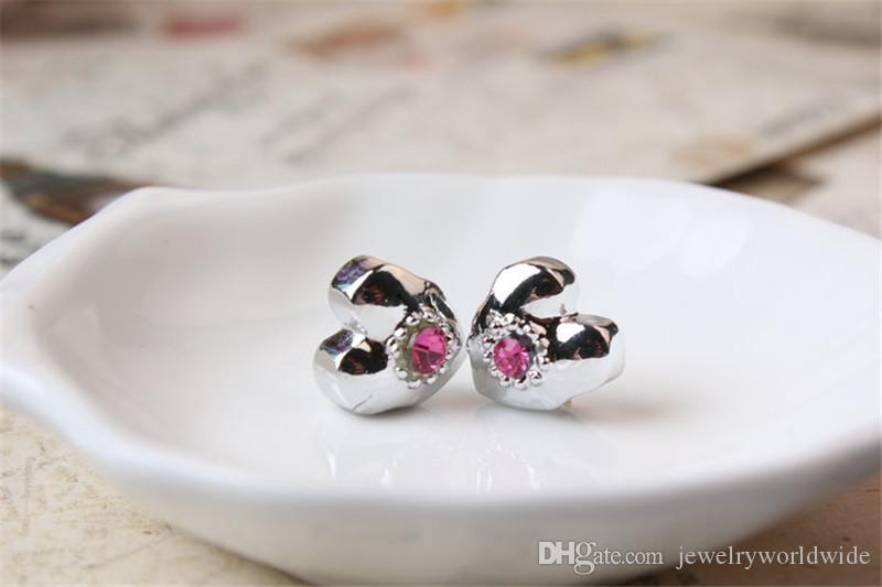 Толстое Покрытие Кристалл Сердце Очарование Шарик Мода Женщин Ювелирные Изделия Европейский Стиль Для Pandora Браслет Ожерелье Браслет