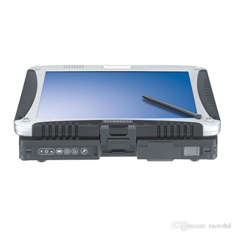 Herramienta de segunda mano Laptop Toughbook CF-19 con Works SSD para MB STAR C3 C4 C5