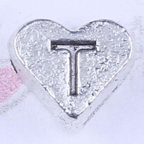 Neue Art und Weise silberne / kupferne Retro- Liebes-hängende Herstellung DIY Schmucksachen hängte passende Halskette oder Armbänder Charme / 2738y Zahl T