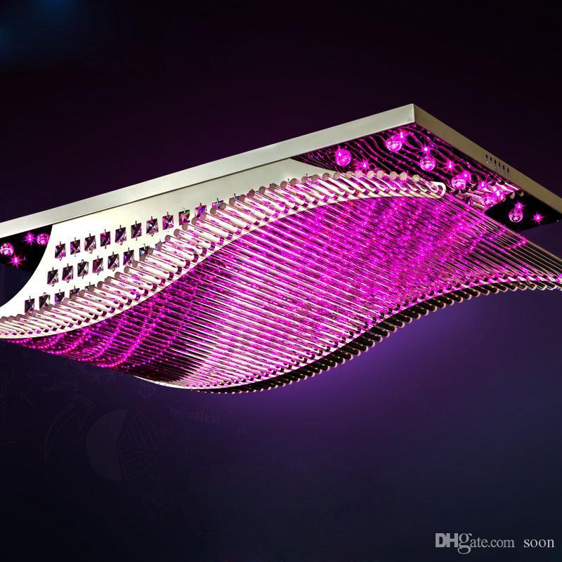 Led K9 Crystal Pendant Lights Modern Creative Rectangular Glass ...