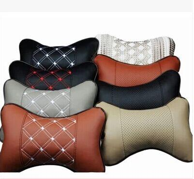 New Genuine Leather Headrest Neck Pillow Car Auto Seat Cover Head Rest Cushion Cushions Online With 572 Piece On Wallpaperrolls
