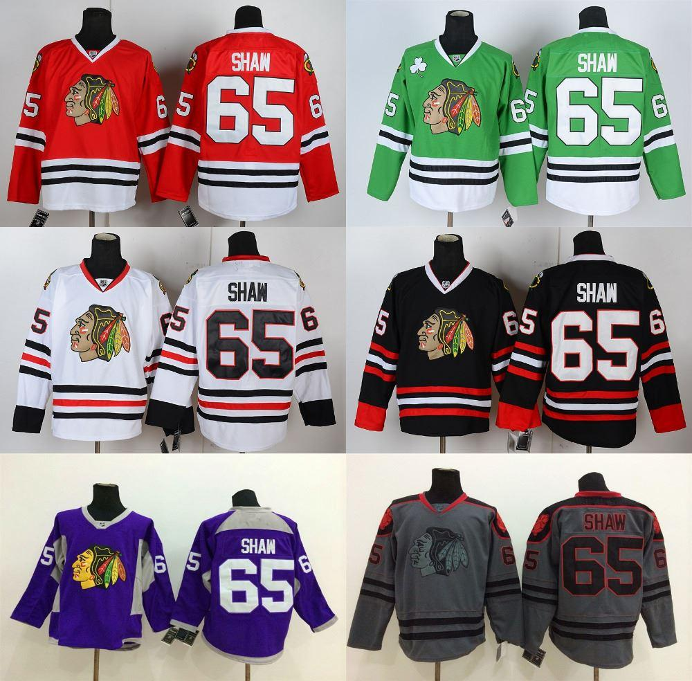 new style 94388 39649 Factory Outlet, Andrew Shaw Jersey Authentic Chicago Blackhawks Jerseys  Andrew Shaw #65 Red/Grey/Green Third Black Hockey Jerseys Cheap Stit