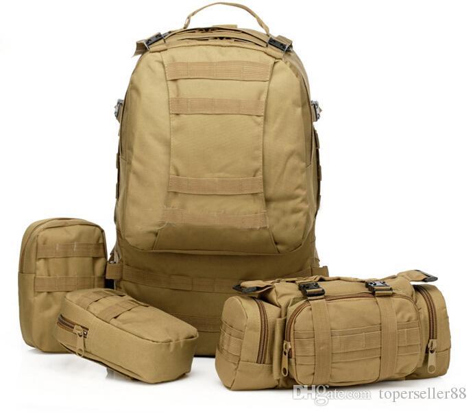 Rattlesnake Mandrake 50L Large Molle Tactical 3 Day Assault Rucksacks Backpack Outdoor Camping mountaineering Bag