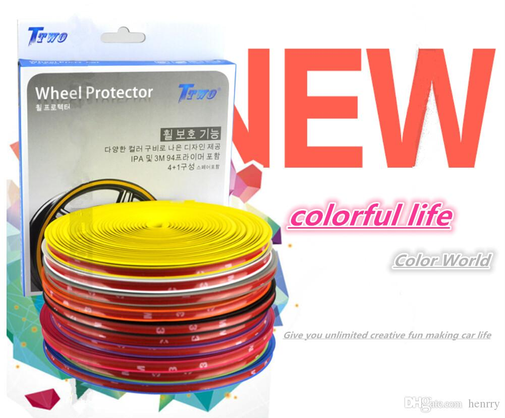 Protective Ring For Car Wheels Coiler Modified Wheel Protection Tire Rims Trim Scuff Scratch Crash Protection Bars