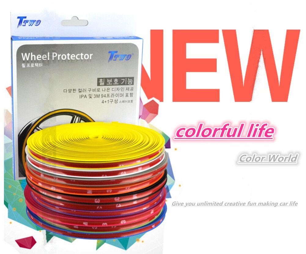 Schutzring für Autoräder Aufwickelvorrichtung Modifizierter Radschutz Reifenfelgen Verkleidung Kratzschutz Stangen