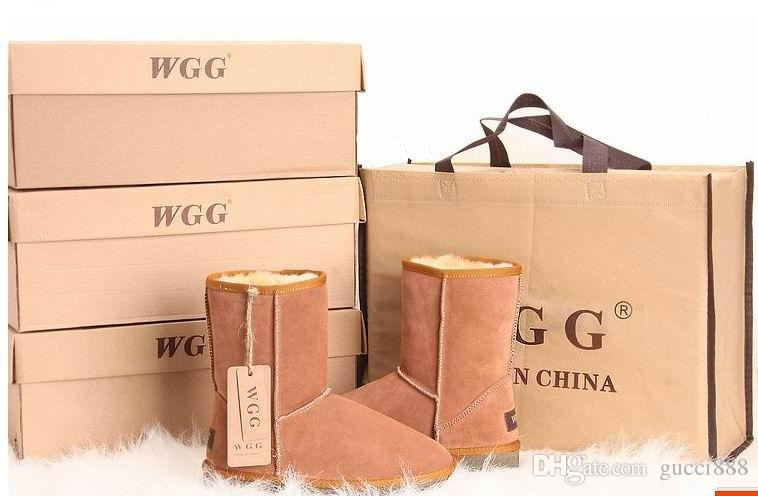 2017 High Quality Classic WGG Brand Women popular Australia Genuine Leather Boots Fashion Women's Snow Boots US5--US13