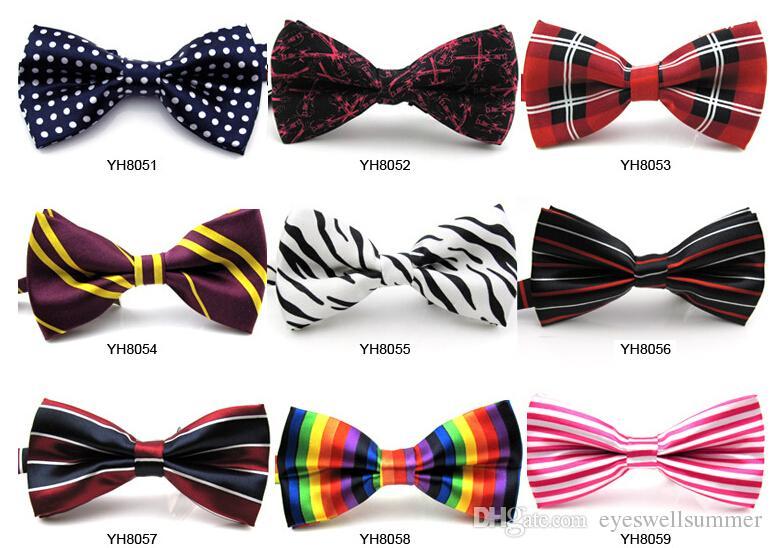 100 stück unisex neck bowtie fliege einstellbar bow tie hochwertige metall verstellschnallen optional multi-styles