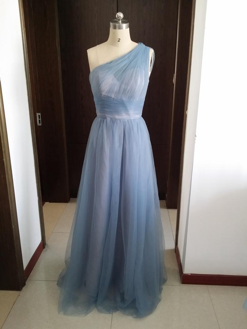 one shoulder dress tulle